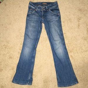 Hudson Jeans Double Button Boot Denim Flap Sz 25